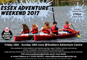 Image of the Essex Adventure Weekend poster