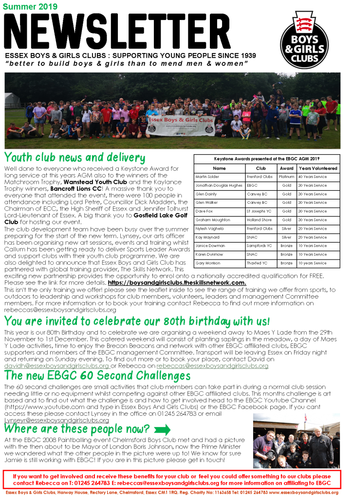 Picture of the Front page of the newsletter